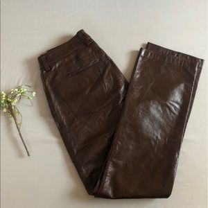 GAP Genuine Leather Pant Boot Cut